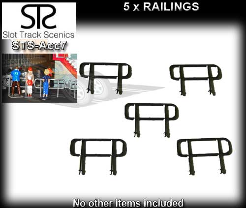 STS SCENERY ACC7 - Pack of 5 railings (grey plastic)