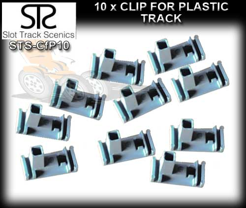 STS CLIPS CFP10 - Clips for Plastic track (pack of 10)