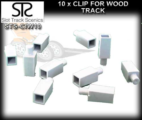 STS CLIPS CFW10 - Clips for Wooden track (pack of 10)