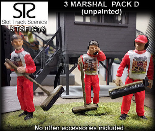 STS FIGURES FIG16 - Marshals with brooms and decals - pack D
