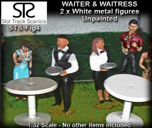STS FIGURES FIG4 - Waiter & Waitress (metal and unpainted)