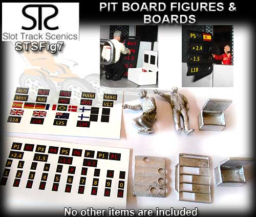 STS FIGURES FIG7 - Pit board figures (metal and unpainted)