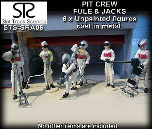 STS FIGURES SRAF06 - Pit crew figures x 6 (metal and unpainted)