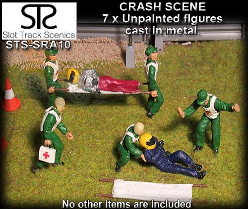STS FIGURES SRAF10 - Crash scene figures (metal and unpainted)