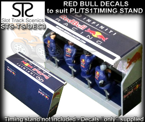 STS PIT LANE DECAL TS/DEC3 - Timing Stand Decals - Red Bull