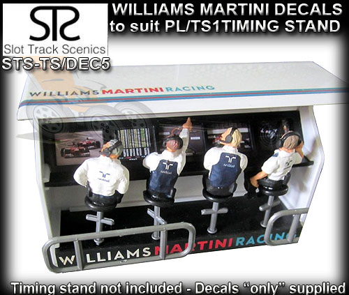 STS PIT LANE DECAL TS/DEC5 - Timing Stand Decals - Williams