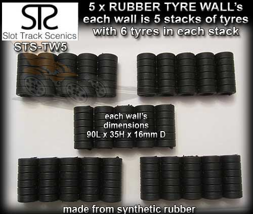 STS TYRE WALL TW5 - Five tyre wall sections
