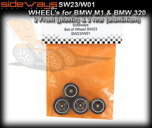 SIDEWAYS WHEELS SW23/W01 - wheels with tyres as supplied on M1/3