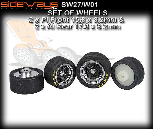 SIDEWAYS WHEELS SW27/W01 - wheels with tyres as supplied on M1