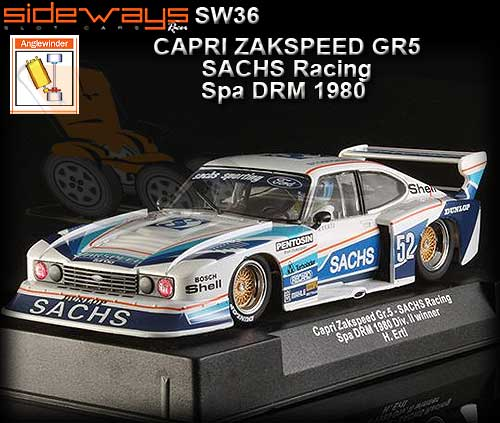 sideways sw36 zakspeed ford capri group 5 1980 sachs. Black Bedroom Furniture Sets. Home Design Ideas