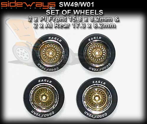 SIDEWAYS WHEELS SW49/W01 - wheels with tyres supplied on Mustang