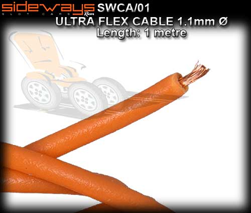 SIDEWAYS CABLE SWCA/01 - 1m Silicone cable Ultra flex - 0.9mm