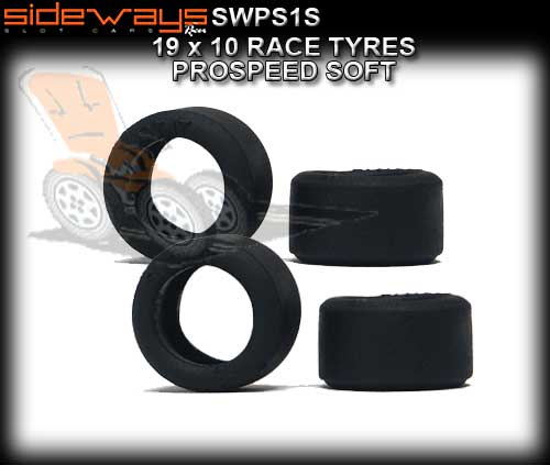 SIDEWAYS TYRES SWPS1S - 4 x ProSpeed Soft Racing Tyres 19 x 10