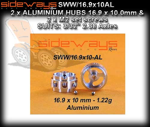 SIDEWAYS WHEELS SWW/16.9X10AL - Aluminium 16.9 x 10.0mm