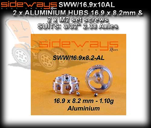 SIDEWAYS WHEELS SWW/16.9X8.2AL - Aluminium 16.9 x 8.2mm