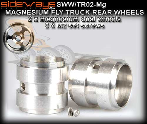 SIDEWAYS WHEELS SWW/TR02-MG - Dual Magnesium for Fly trucks