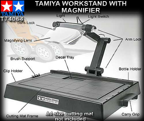 TAMIYA T74064 - A4 Workstand with magnifier and led lights