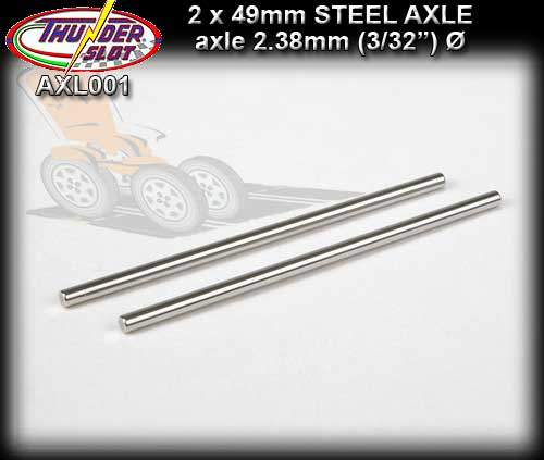 THUNDERSLOT AXLE AXL001 - Steel Axle 49mm x 3/32 dia. (2.38mm)