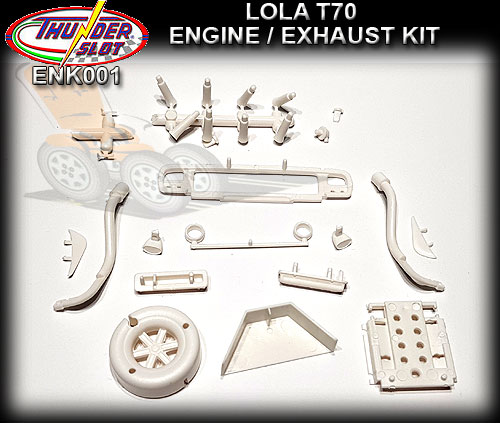 THUNDERSLOT BODY PARTS ENK001 - Lola T70 MKIII Engine/Exhaust