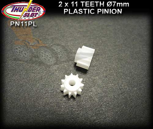 THUNDERSLOT GEARS PN11PL - 11 tooth plastic pinion 7mm