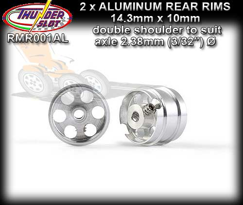 THUNDERSLOT WHEELS RMR001AL - Aluminum 14.3 x 10mm