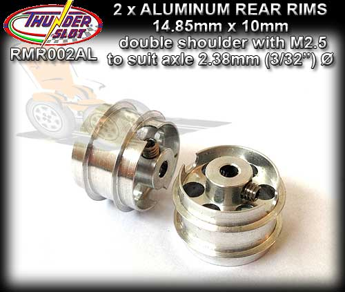 THUNDERSLOT WHEELS RMR002AL - Aluminum 14.9 x 10mm
