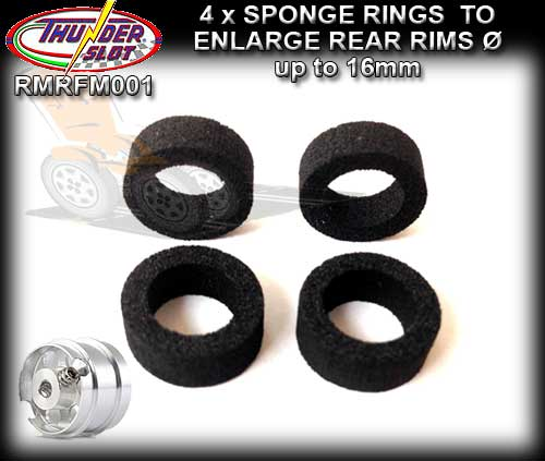 THUNDERSLOT WHEELS RMRFM001 - Sponge/Foam rings to enlarge rims