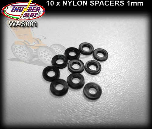 THUNDERSLOT SPACERS WAS001 - Nylon Axle Spacers 1.0mm