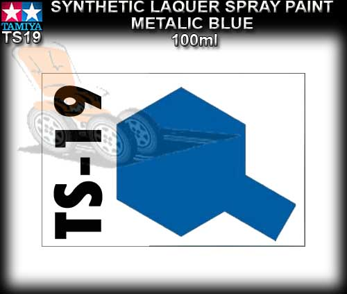 TAMIYA SPRAY PAINT LACQUER TS19 - 100ml Metalic Blue spray paint