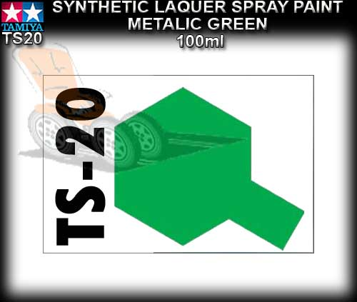 TAMIYA SPRAY PAINT LACQUER TS20 - 100ml Met. Green spray paint