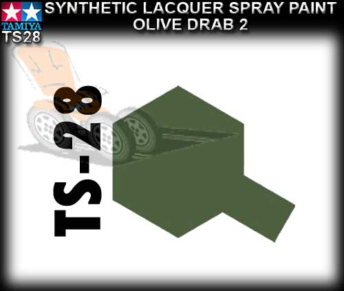 TAMIYA SPRAY PAINT LACQUER TS28 - 100ml Olive Drab spray paint