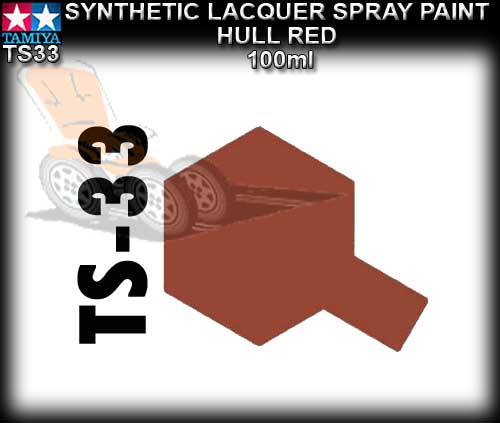 TAMIYA SPRAY PAINT LACQUER TS33 - 100ml Hull Red spray paint