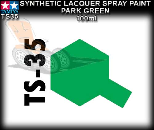 TAMIYA SPRAY PAINT LACQUER TS35 - 100ml Park Green spray paint