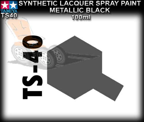 TAMIYA SPRAY PAINT LACQUER TS40 - 100ml Metallic Blk.spray paint