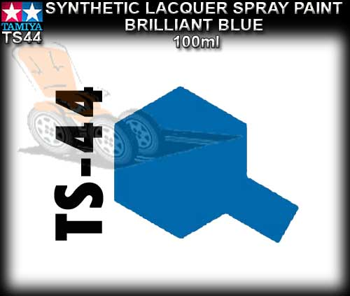 TAMIYA SPRAY PAINT LACQUER TS44 - 100ml Brilliant Blue s/paint