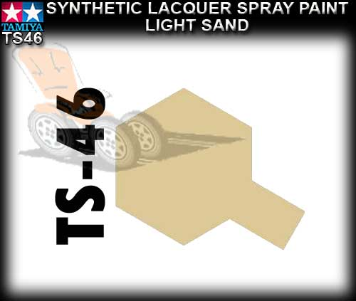 TAMIYA SPRAY PAINT LACQUER TS46 - 100ml Light Sand spray paint