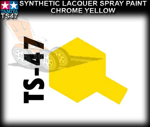 TAMIYA SPRAY PAINT LACQUER TS47 - 100ml Chrome Yellow s/paint