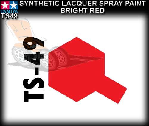 TAMIYA SPRAY PAINT LACQUER TS49 - 100ml Bright Red spray paint