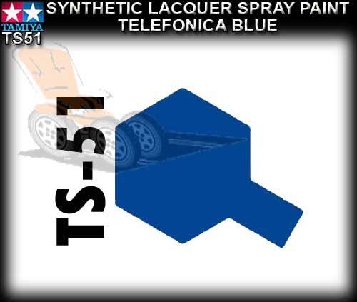 TAMIYA SPRAY PAINT LACQUER TS51 - 100ml Telefonca Blue s/paint