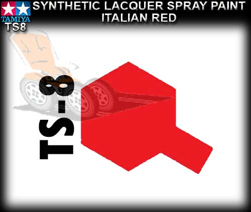 TAMIYA SPRAY PAINT LACQUER TS8 - 100ml Italian Red spray paint