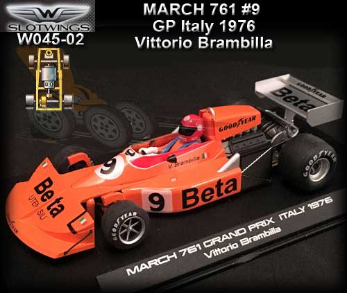 SLOTWINGS W045-02 - March 761 - Italian Grand Prix 1976 #9