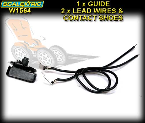 SCALEXTRIC GUIDE W1564 - Guide Blade and Lead Wires with Shoes