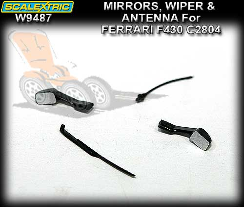 SCALEXTRIC MIRRORS W9487 - Mirrors Wiper Antenna for Ferrari 430