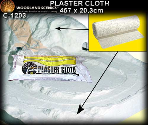 WOODLANDS SCENICS PLASTER CLOTH C1203 - Landscape Plaster Cloth