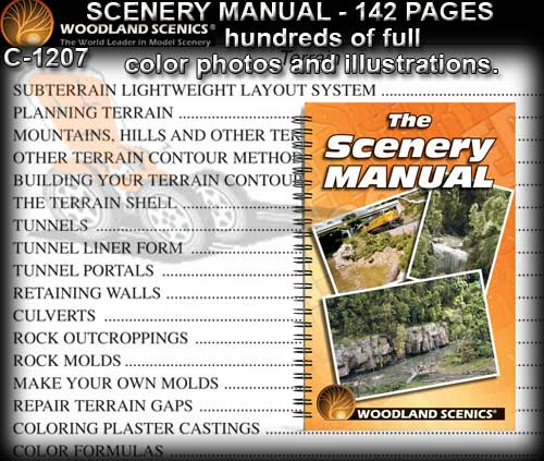 WOODLANDS SCENICS SCENERY MANUAL C1207 - 142 Page Scenery Manual