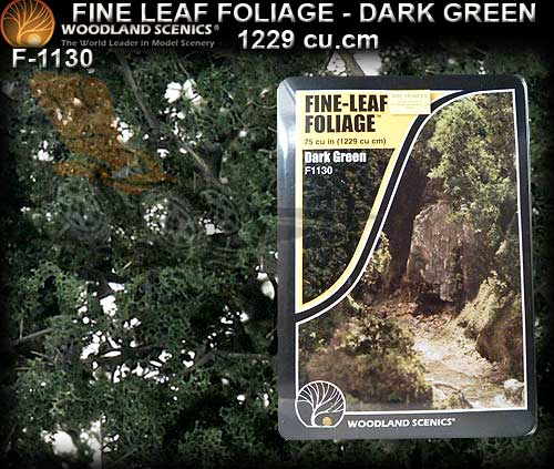 WOODLANDS SCENICS FINE LEAF FOLIAGE F1130 - Dark Green