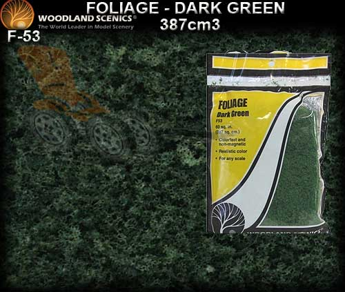WOODLANDS SCENICS FOLIAGE F53 - Dark Green