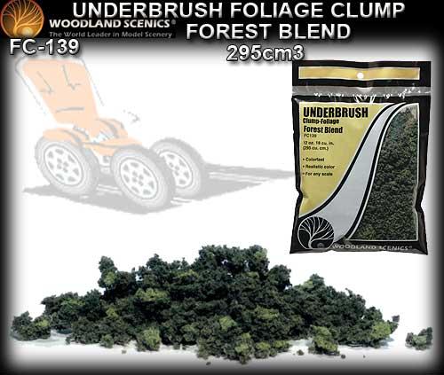 WOODLANDS SCENICS FOLIAGE UNDERBRUSH CLUMP FC139 - Forest Blend