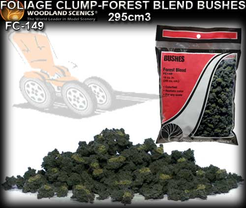 WOODLANDS SCENICS FOLIAGE CLUMP FC149 - Forest Blend Bushes