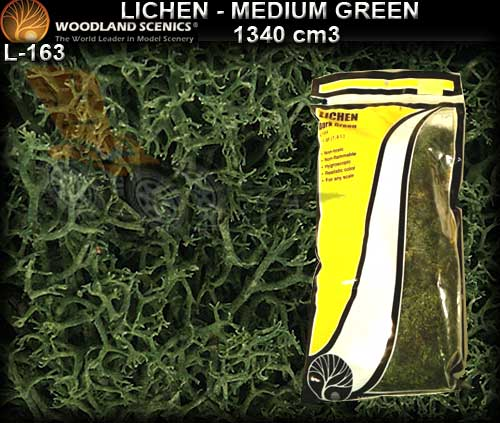 WOODLANDS SCENICS LICHEN L163 - Medium Green Lichen
